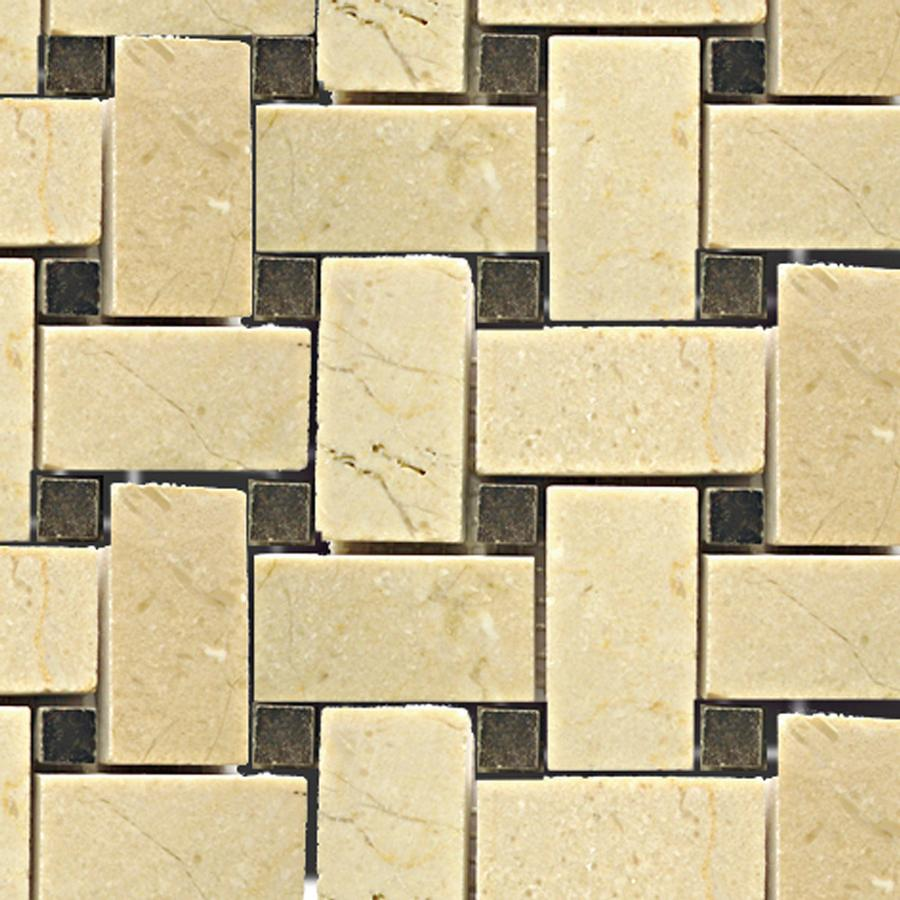 Ceramic basket weave tile